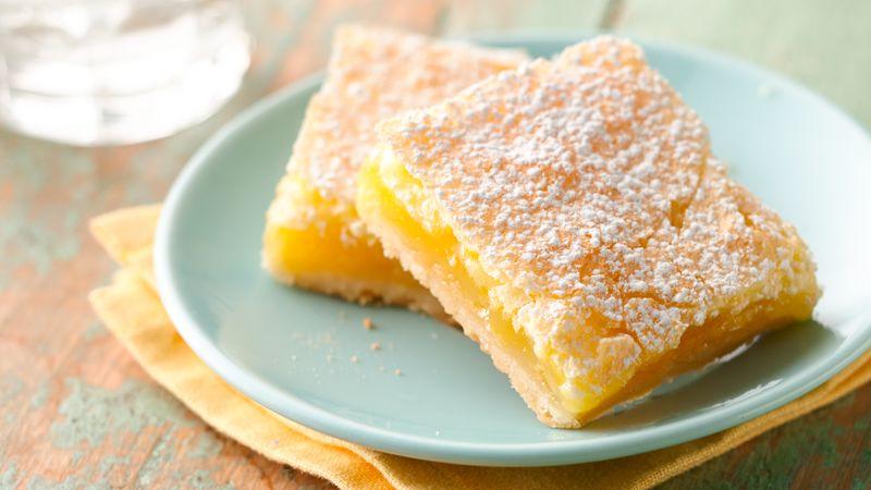 Gluténmentes citrom kockák