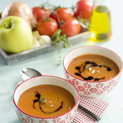 Almás sült paradicsom leves