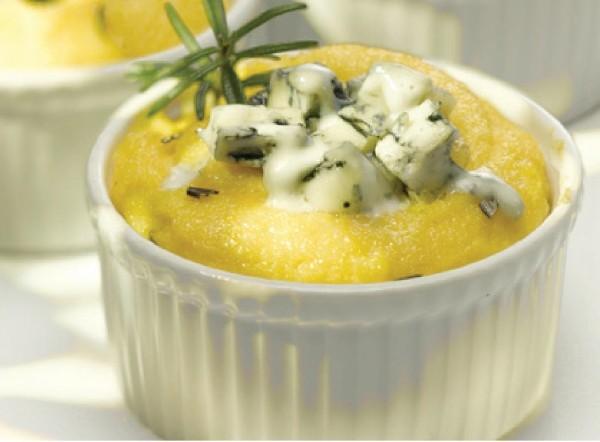 Polenta gorgonzola sajttal