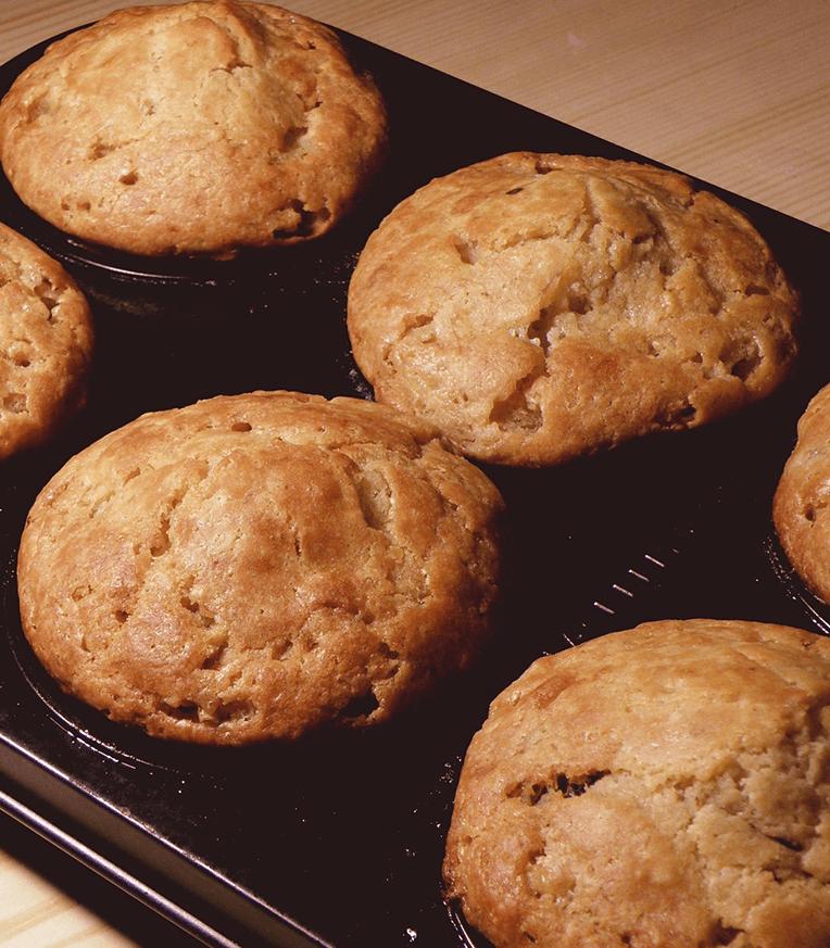 Sonkás sajtos quinoa muffin